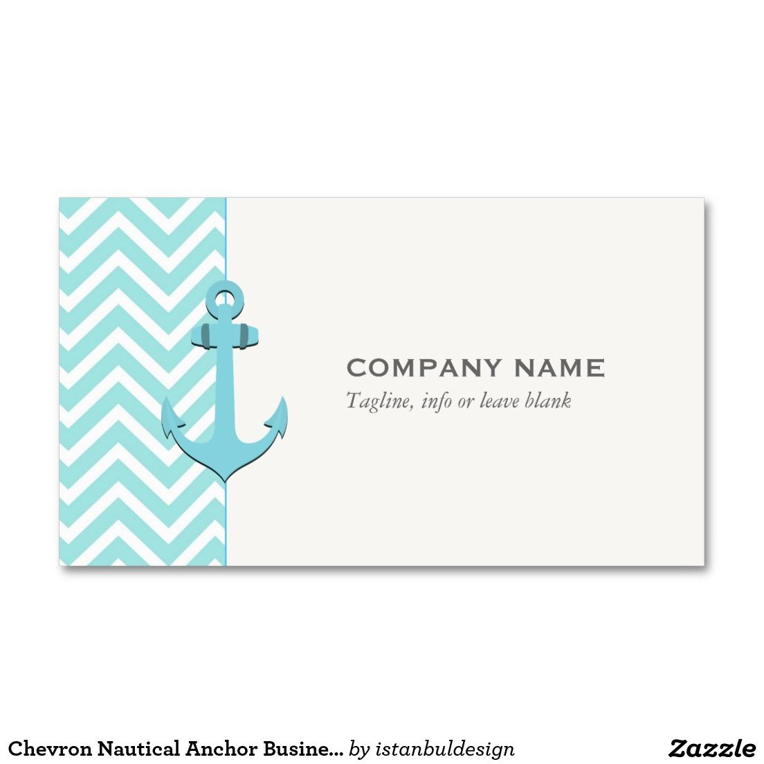 Chevron Nautical Anchor Business Card | Chevron, Business and ...