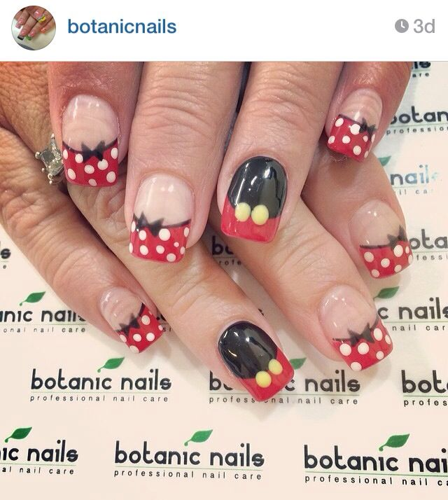 Minnie Mikey nails | Decorated Digits | Pinterest | Disney nails ...