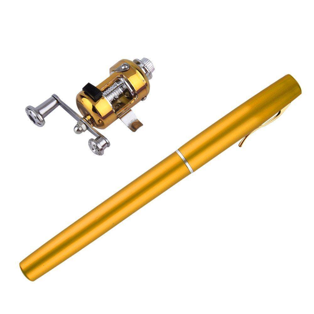 1 unid Mini aleación de aluminio Portable Pocket Pen forma