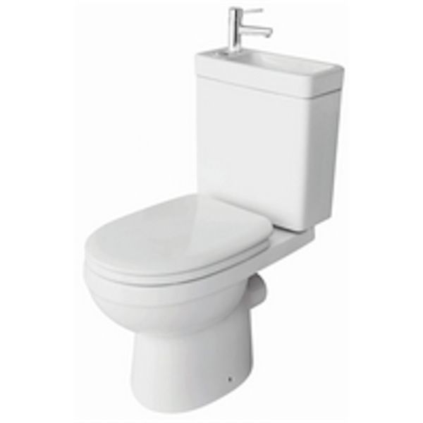 Design Stand Wc komplett set Spülkasten KERAMIK inkl Waschbecken - keramik waschbecken k che