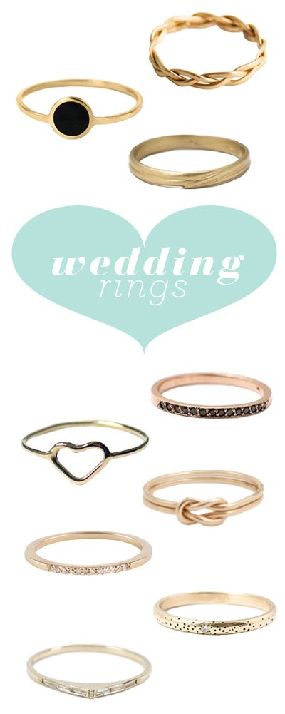 10 simple (but beautiful) wedding rings