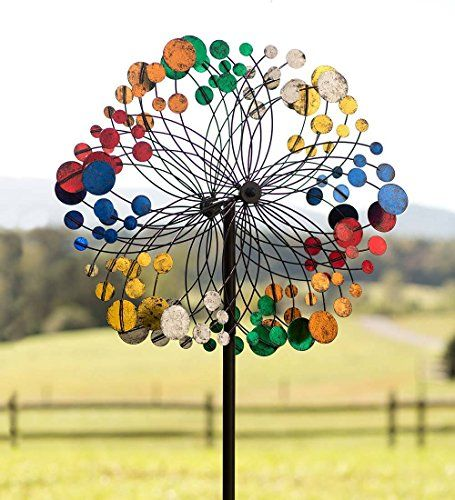Plow Hearth Geometric Outdoor Garden Wind Spinner Yard Sculpture