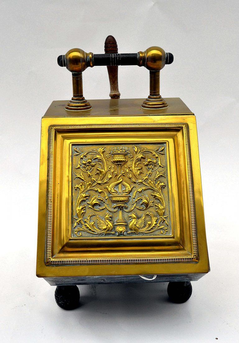 victorian brass coal scuttle good condition from the estate of