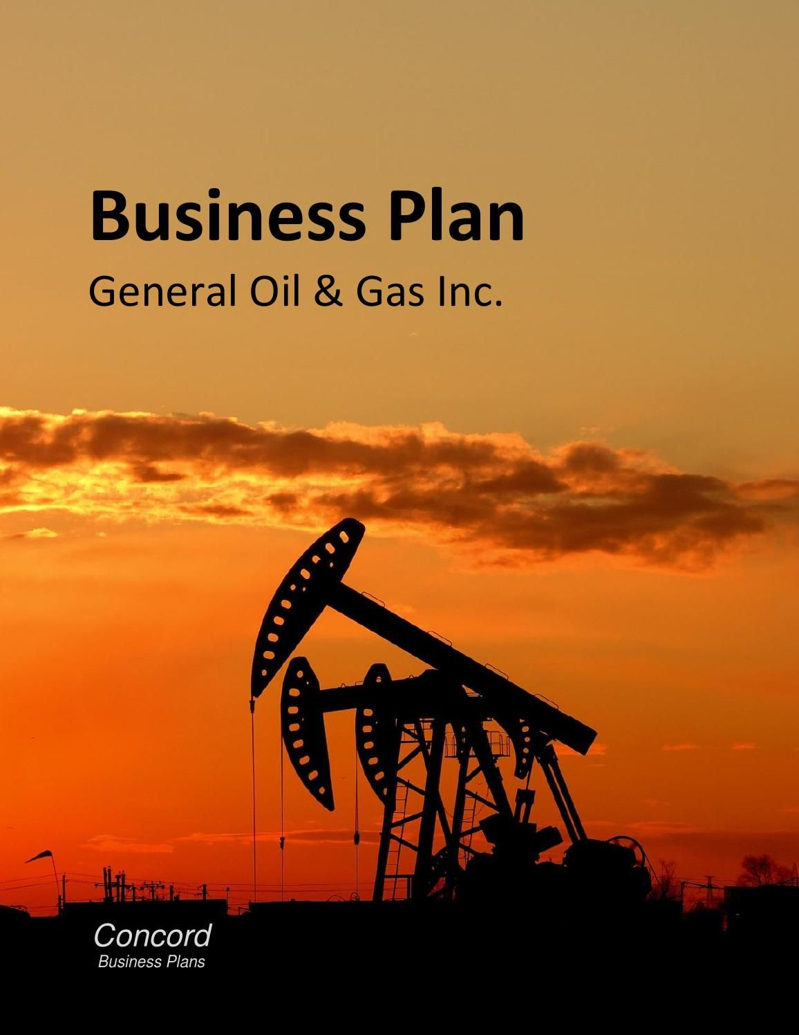 Sample Business Plan  Oil And Gas Prepared By Wanda Halpert For