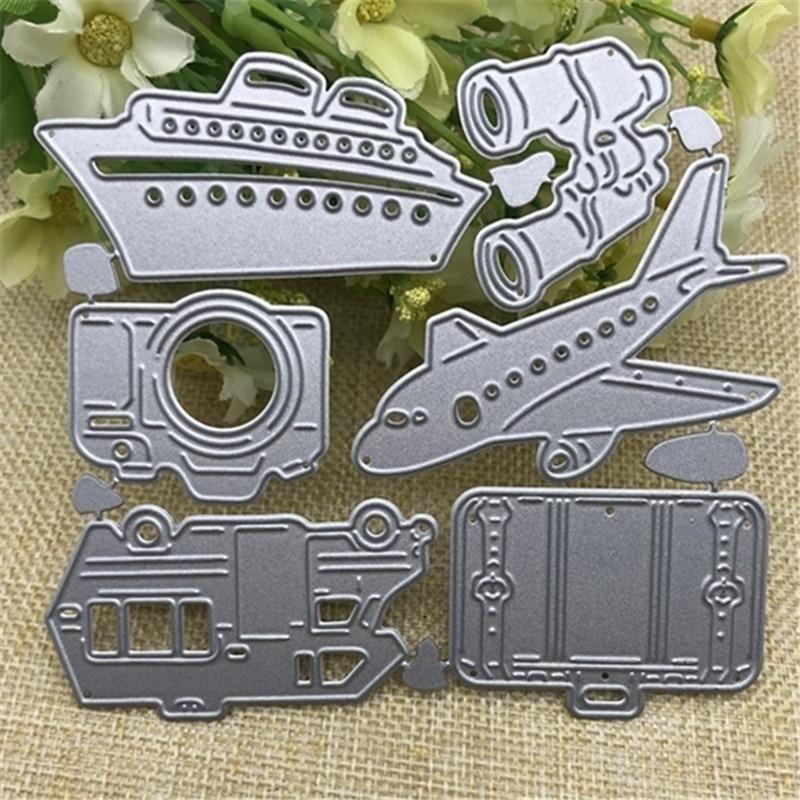camera plane stencils scrapbooking  cards handmade diy