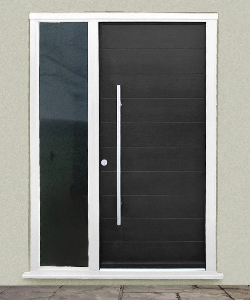 Modern entry doors with sidelights - Kloeber Gallery Euro Funkyfront Contemporary Timber Entrance Doors
