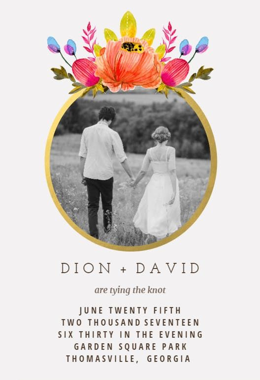 Floral ring free wedding invitation template greetings island floral ring free wedding invitation template greetings island cards pinterest invitation templates template and cards m4hsunfo
