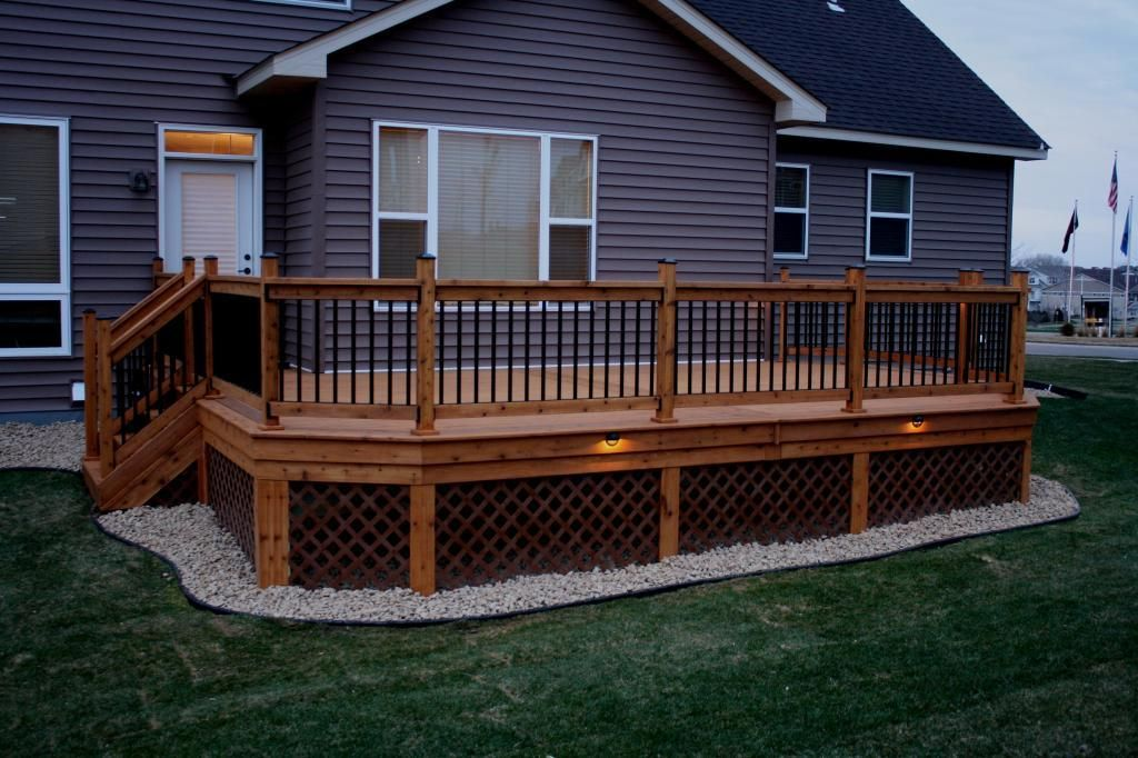 Gravel Works Well Under A Deck And Provides Drainage Lattice Adds A Nice Finishing Touch Bing Images Decks Backyard Building A Deck Deck Designs Backyard