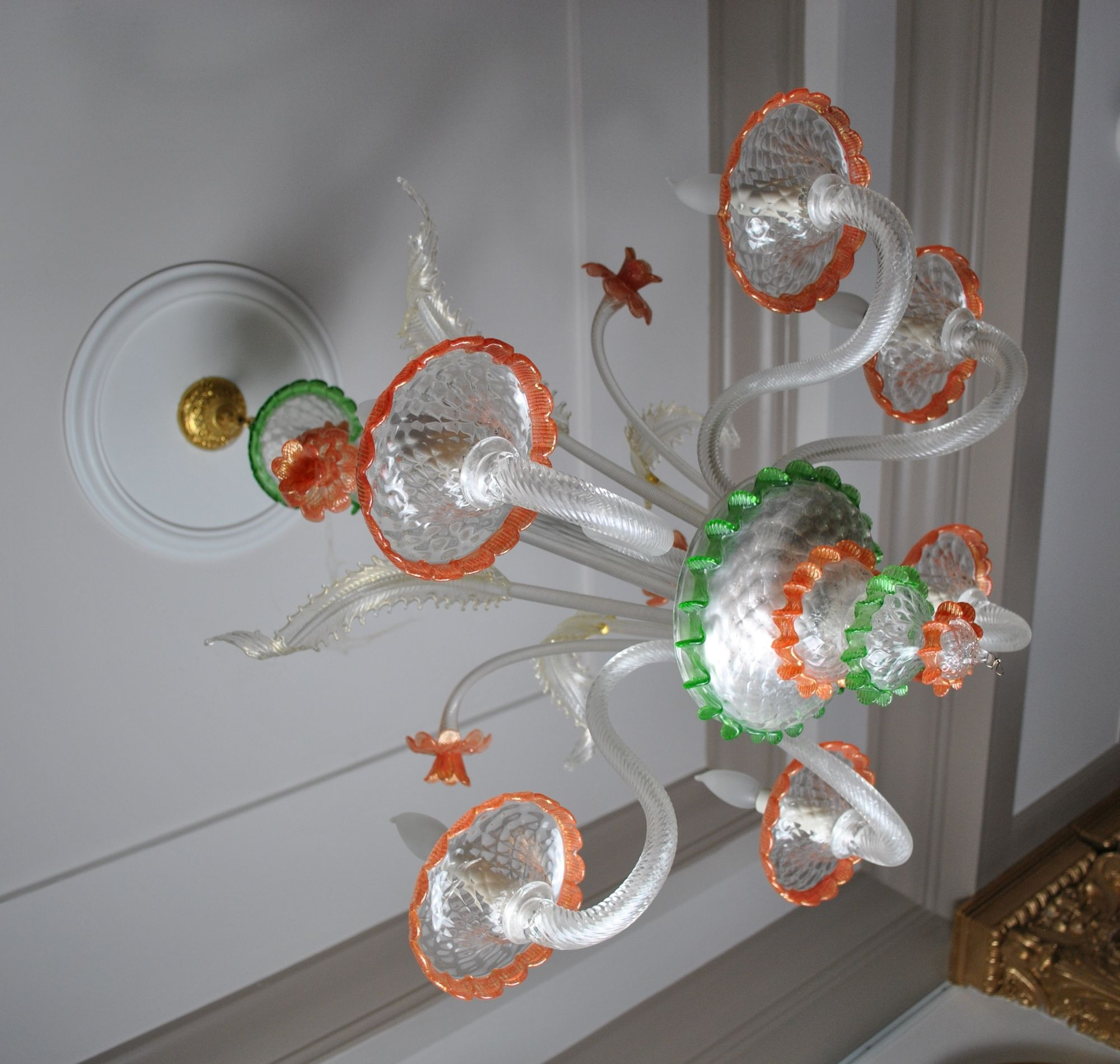 Image detail for -Murano 6-Light Glass Chandelier :: Chandeliers :: Lighting :: Beaux ...