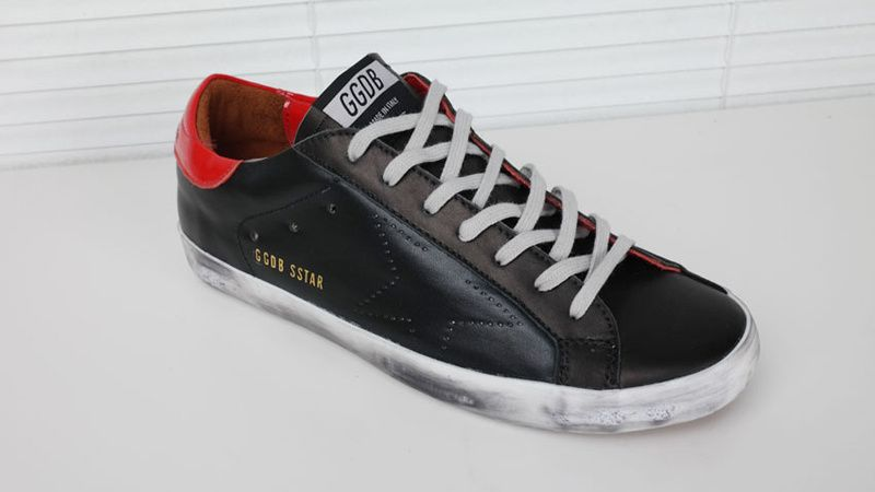 best website fc347 25de6 Sneakers Golden Goose Superstar - GGDB Superstar Homme Noir Rouge