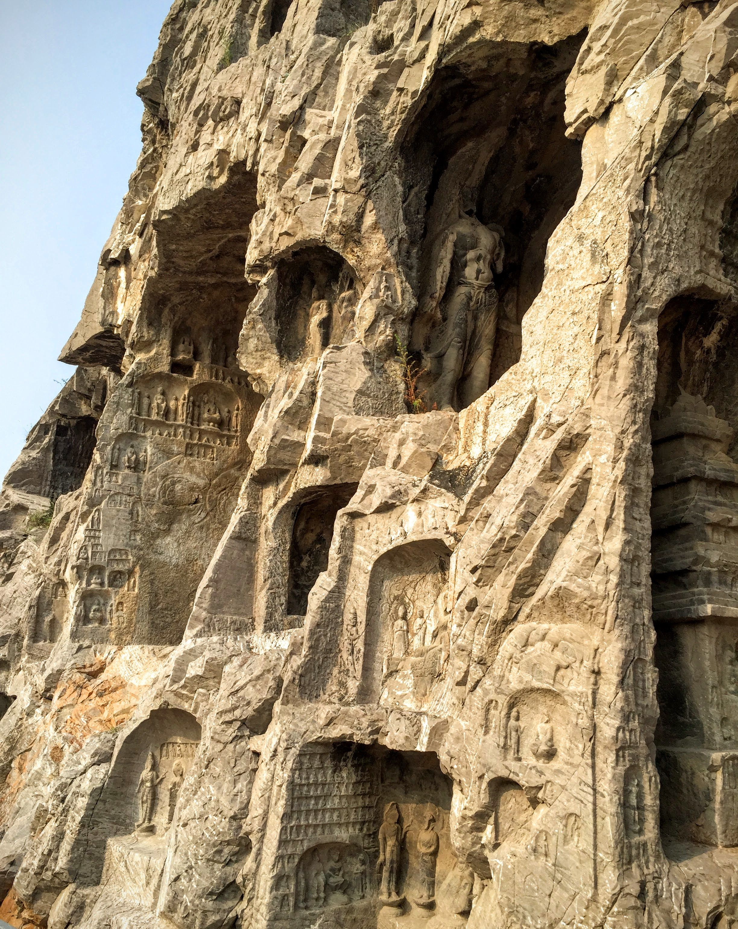 195. Longmen caves. Luoyang, China. Tang Dynasty. 493–1127 ...