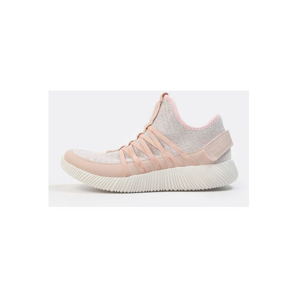 SheIn(sheinside) Laceless Sparkle Sneakers PINK ($23) ❤ liked on Polyvore featuring shoes, sneakers, pink, pink mary jane shoes, mary-jane shoes, almond toe shoes, pink mary janes and mary jane sneakers