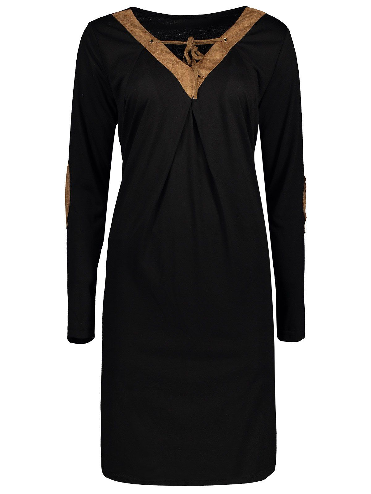 V neck elbow patch long sleeve tshirt dress men hats watches