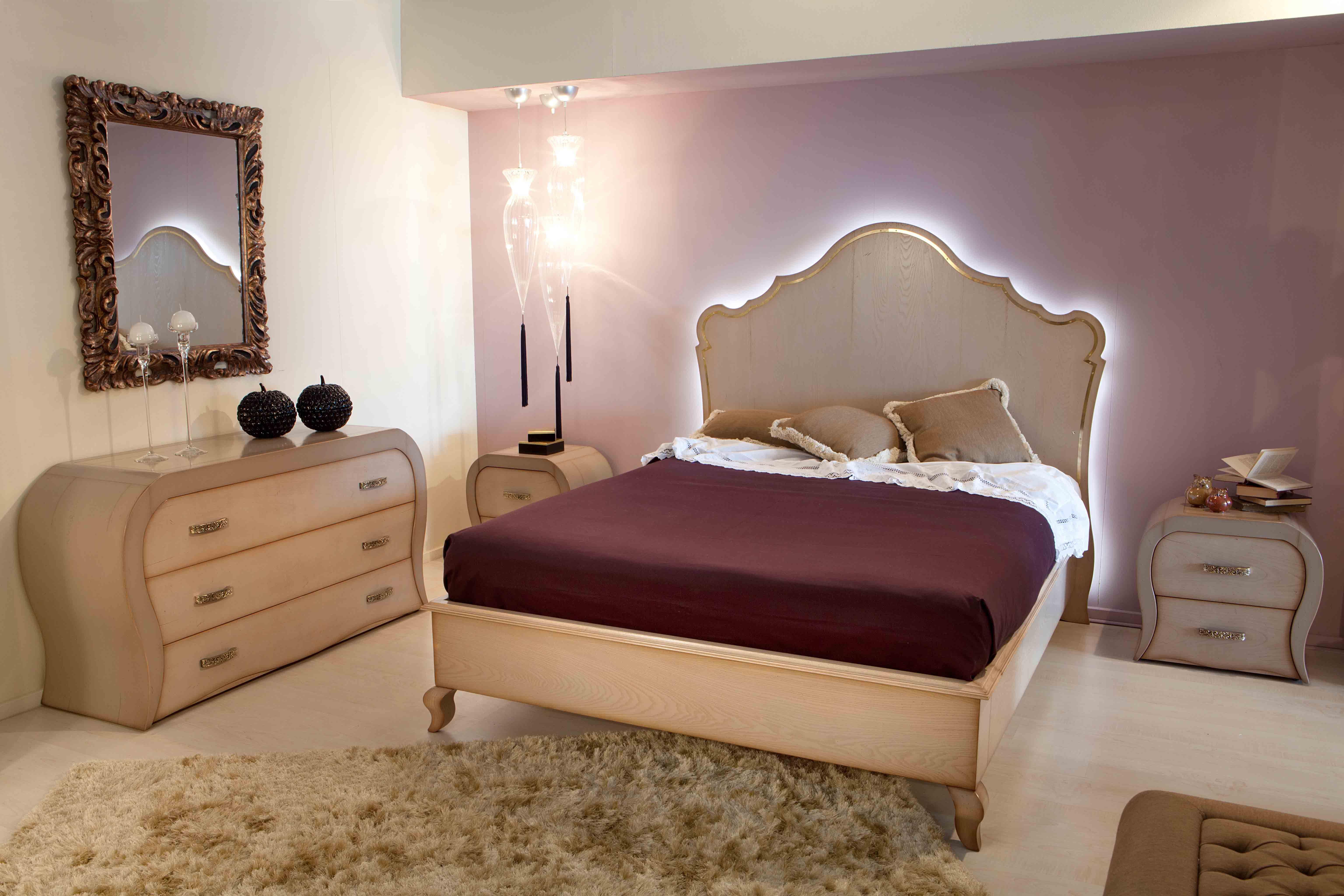 camera da letto con diffusore luce led | mobilificio rbr ebanisteria ...