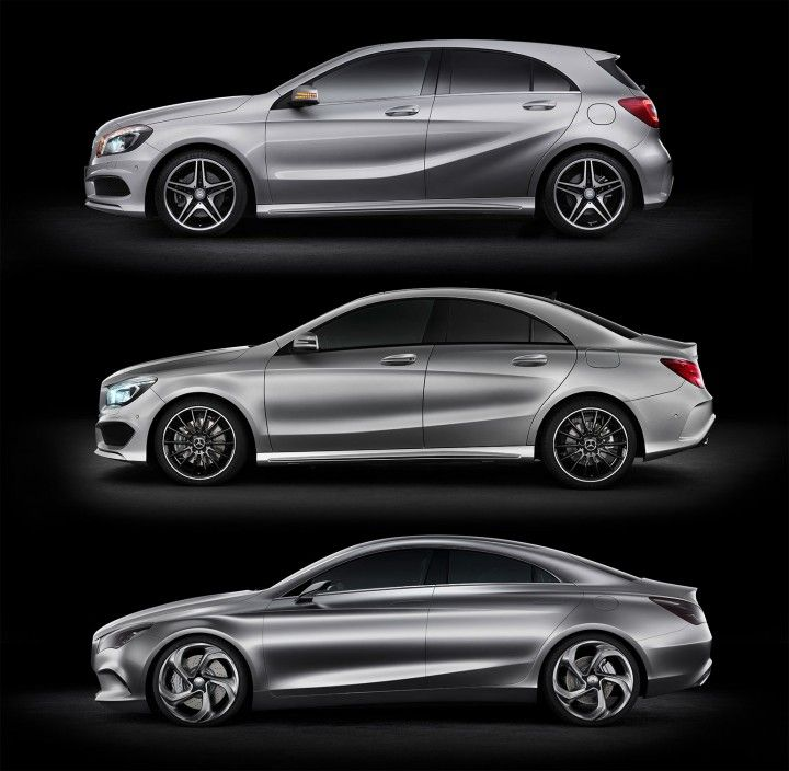 MercedesBenz AClass CLAClass and Concept Styl Coupe