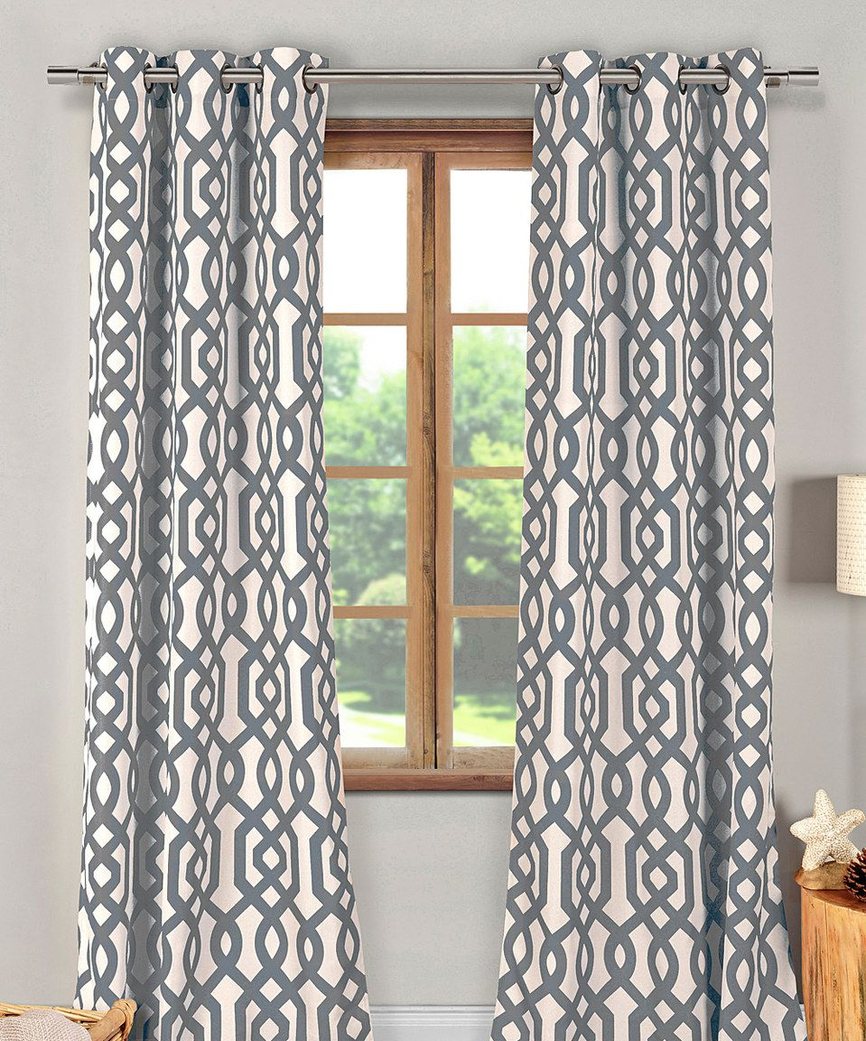 Duck river textile gray ashmont blackout curtain panel set of two