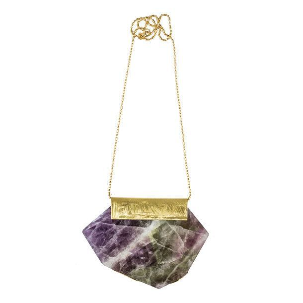 Fluorite Necklace Rainbow