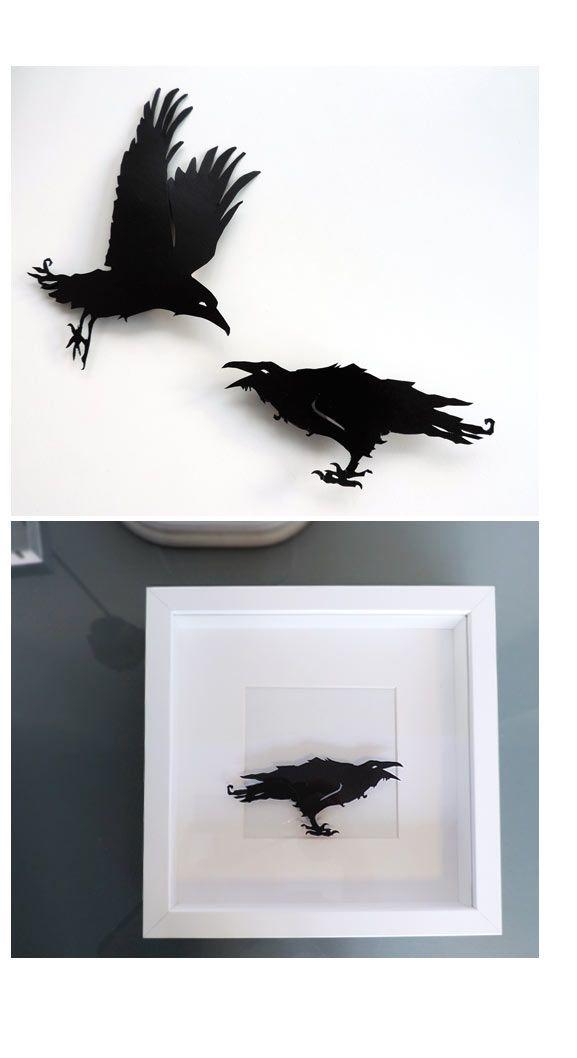 Sonja Egger zeigt Raben- und Krähen-Scherenschnitte   Sonja Egger, Illustration, Handgemachtes, Bastelanleitungen