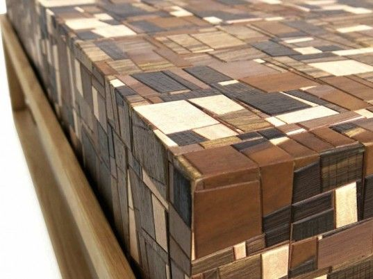 Mosaica: Chissick Design Creates Beautiful Coffee Table From Over Two Thousand Pieces of Salvaged Wood