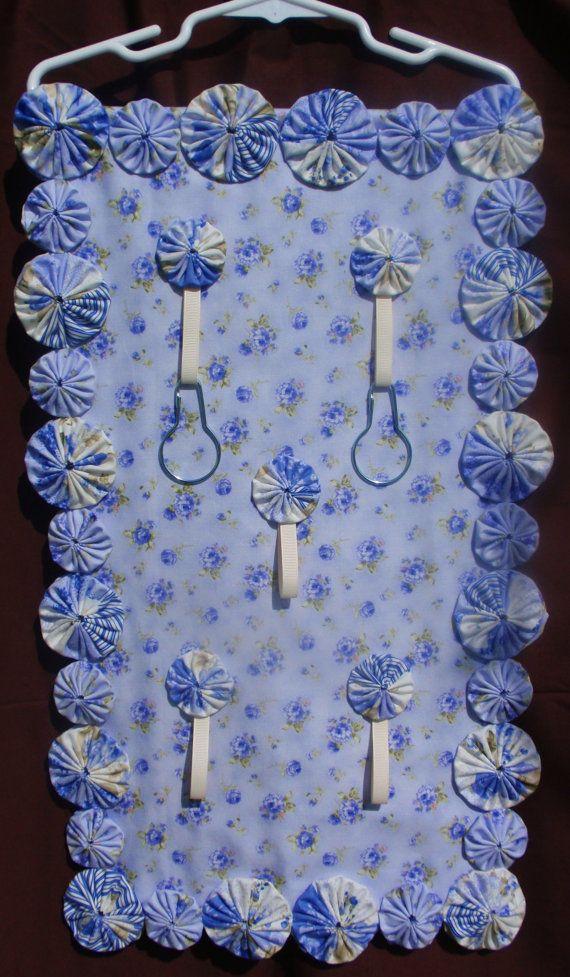 Organizer SALE Shabby Chic Cream & Blue Rose by SursyShop on Etsy, $30.00