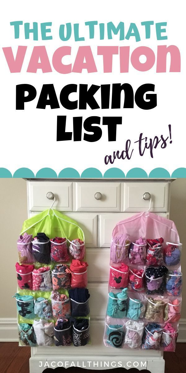 Vacation Packing List - The Ultimate Packing Checklist (Free Printable)