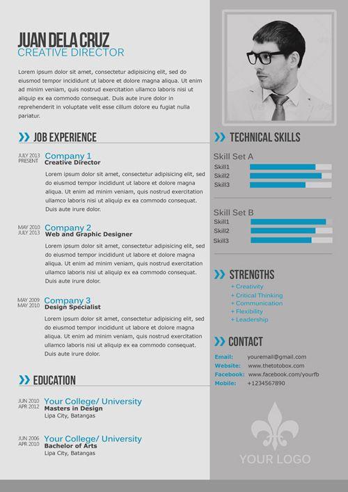 modèles cv cv pinterest template simple resume and resume cv