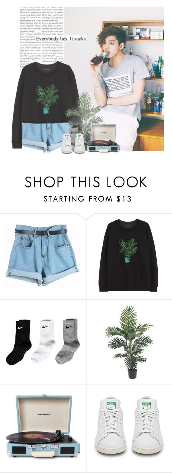 """Dongwoo: everybody lies. it sucks."" by yxing ❤ liked on Polyvore featuring Chicnova Fashion, NIKE, Crosley, kpop, infinite and dongwoo"