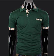 New Fashion Mens Polo Shirts Short Sleeve Green T-shirt Top Tee CN 3XL/US L http://ift.tt/1M28XjX