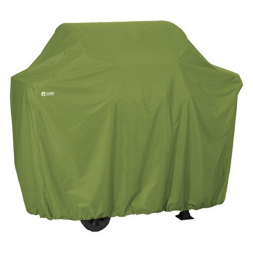 Rugged BBQ Cover with Advanced Weather Classic Accessories Hickory Grill Cover