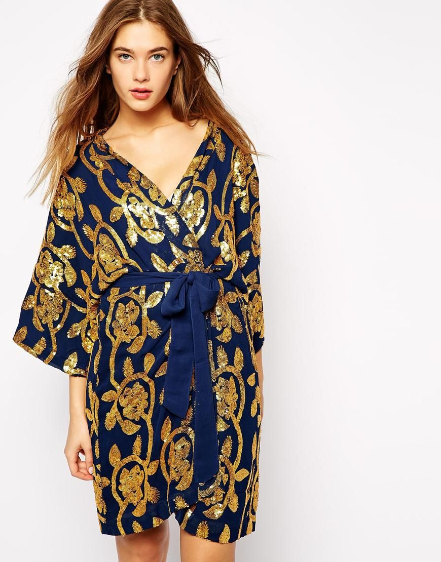 3cc8d889 asos: ganni gardenia. kimono in floral sequin. #fashion | bathic ...