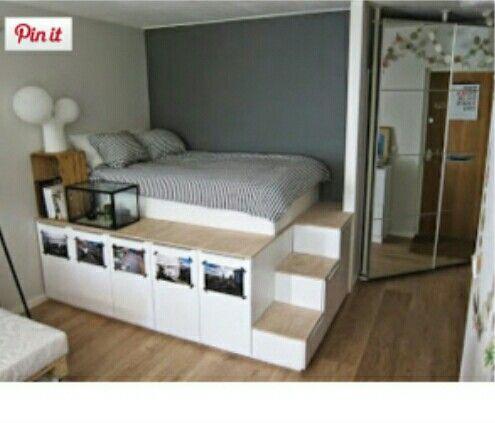 dormitorio elevado dicas casa pinterest dachschr ge kinderzimmer und inspiration. Black Bedroom Furniture Sets. Home Design Ideas