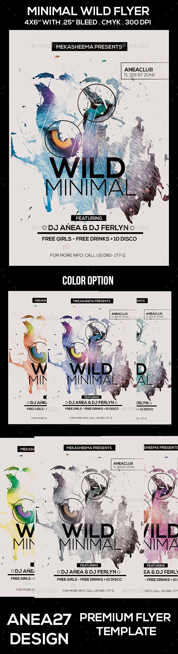 Wild Minimal Flyer  Minimal Flyer Template And Template