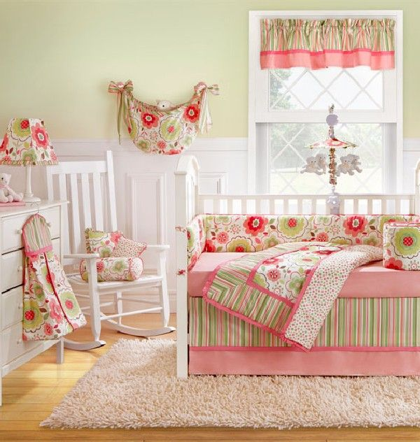 Baby Nursery White And Pink Baby Girl Bedding Ideas White Rocking