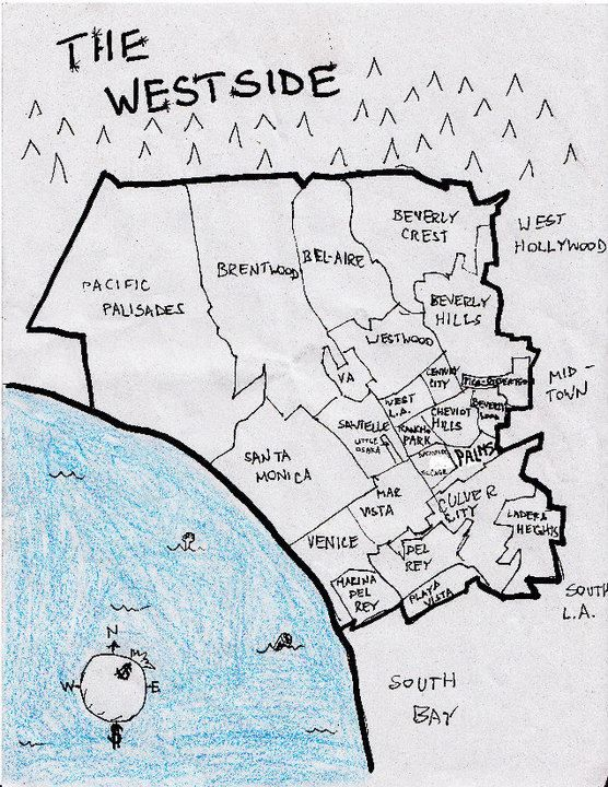 How West Los Angeles Was Divided Up Long Ago West Los Angeles Westside Mid City