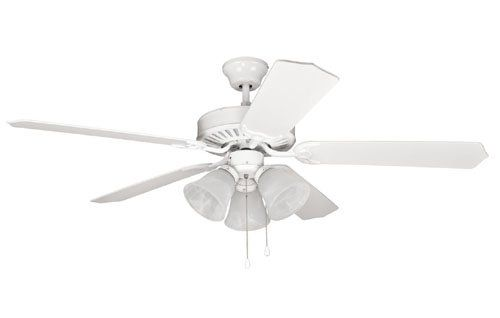 Litex E Ult52ww5c3 Ulimate Builder Ceiling Fan Litex Ultimate Builder 52 Inch White 3 Light Kit With Alabaster Glass 3 B Ceiling Fan Home Improvement Ceiling