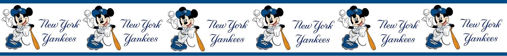 Mickey Mouse Yankees wallpaper border bykreationz4kidz