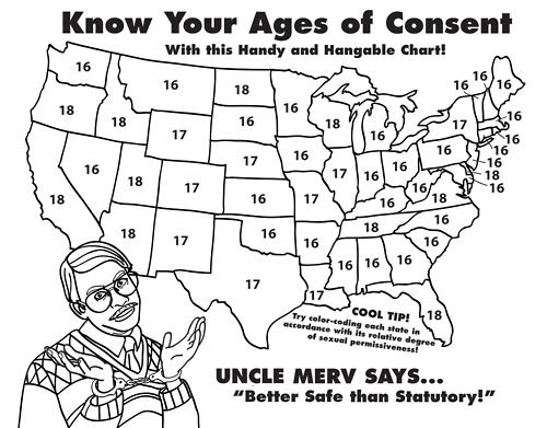 """Coloring pages for adults. """"Know your ages of consent… With this ..."""