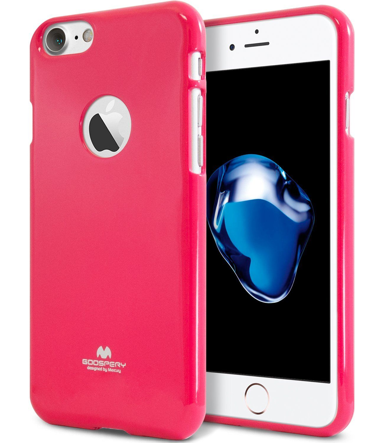 Iphone 7 Case Thin Slim Goospery Flexible Pearl Jelly Perfect 6 6s Pink