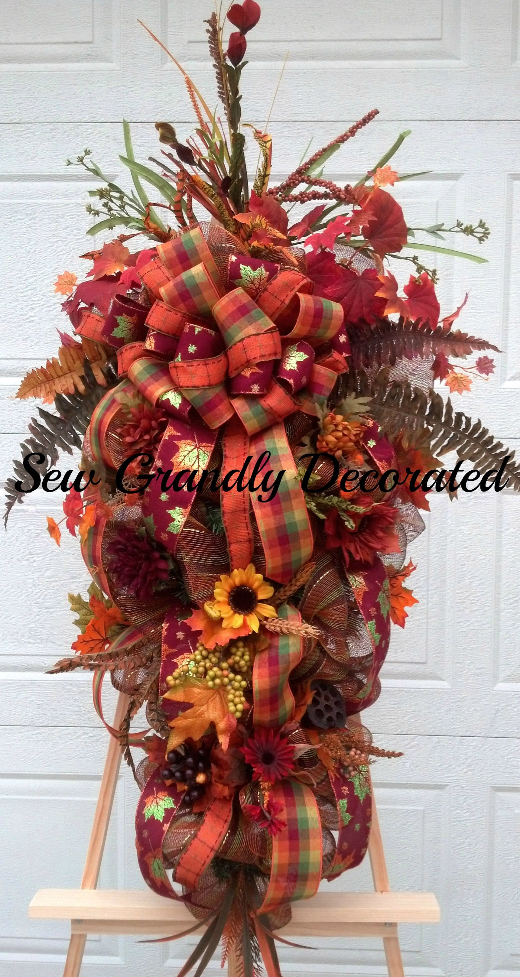 An XL Fall Swag created for client.  I love the rich colors of Autumn...
