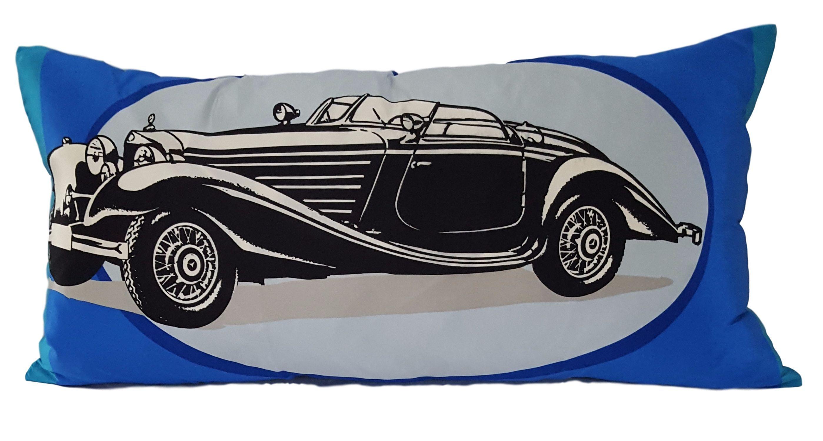 Vintage mercedes benz silk decorative pillow mercedes benz benz