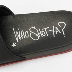 Photo of Who Shot Ya? / Sandals Logo in black Who Shot Ya?