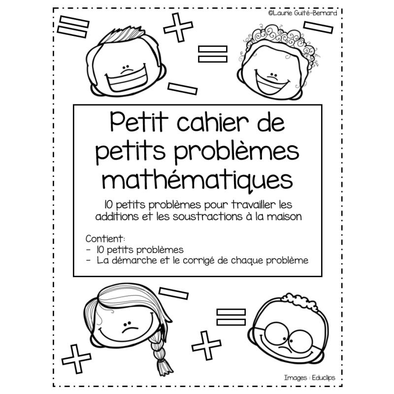 Gratuit Petit Cahier Mathematique Modifie Math Busy Bags Notebook