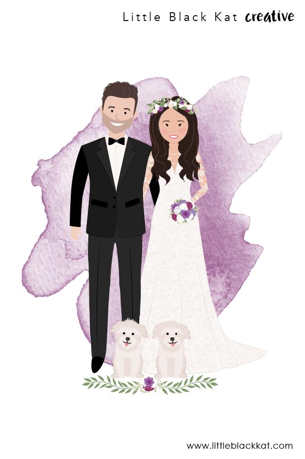 Custom Wedding Portrait Drawing Personalised Wedding Gift First Wedding Anniversary Gift Wedding Keepsake Bride And Groom Illustration First Wedding Anniversary Gift Custom Wedding Wedding Portraits