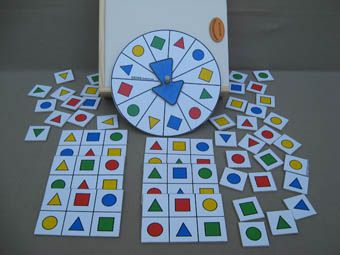 Loteria Con Figuras Geometricas Y Ruleta Con Imagenes Figuras