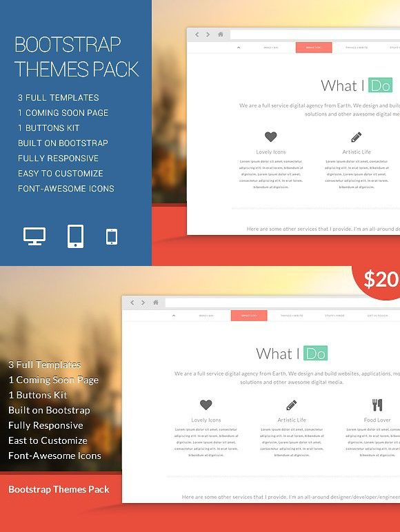 Bootstrap Themes Pack Bootstrap Template Templates Theme