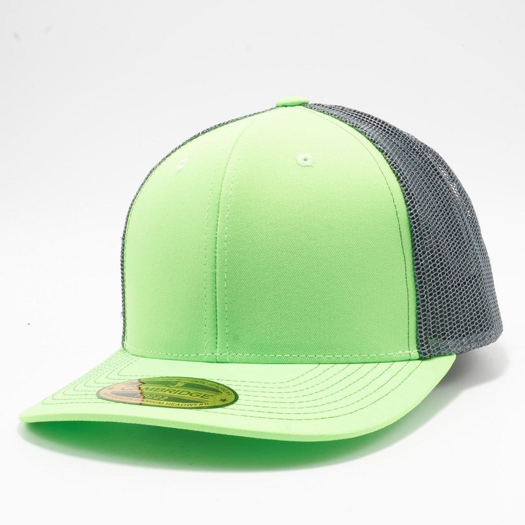 9c83601bb PB222 Pit Bull Neon Cambridge Trucker Hat [N.Green/Charcoal ...