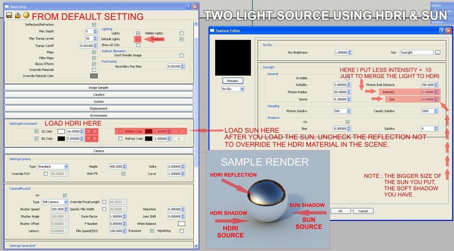 zdesign: Using HDRI and SUN in Vray SketchUp      SKETCHUP