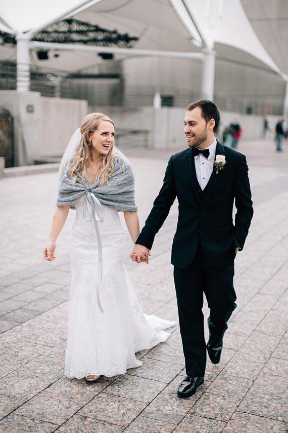73d68273f82 Bridal Shawl Wedding Shawl Bridal Shrug Ivory Shawl Gray Wedding Cape