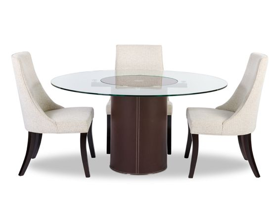 Dania Sleek With Modern Lines The Dorine Round Dining Table