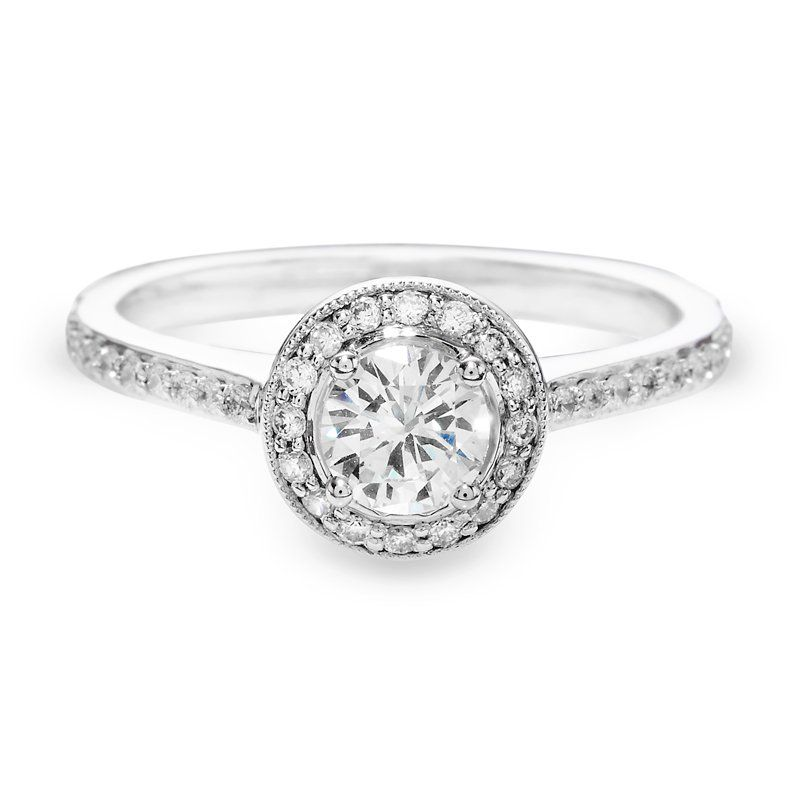 Justice Custom Collection Diamond Halo Engagement Ring #justicejewelers